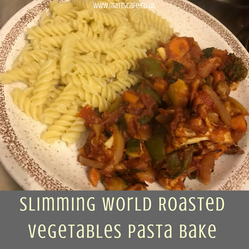 Slimming World Roasted Vegetables Pasta Bake