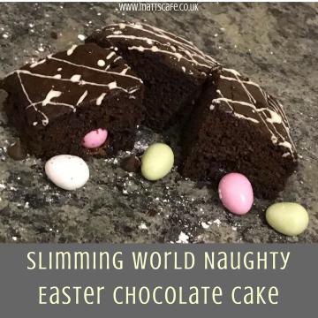 Slimming World Naughty Easter Chocolate Cake