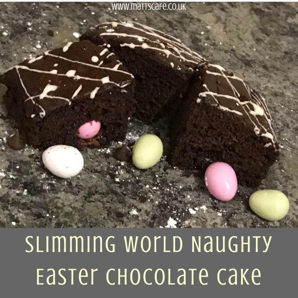 Slimming World Naughty Easter Chocolate Cake