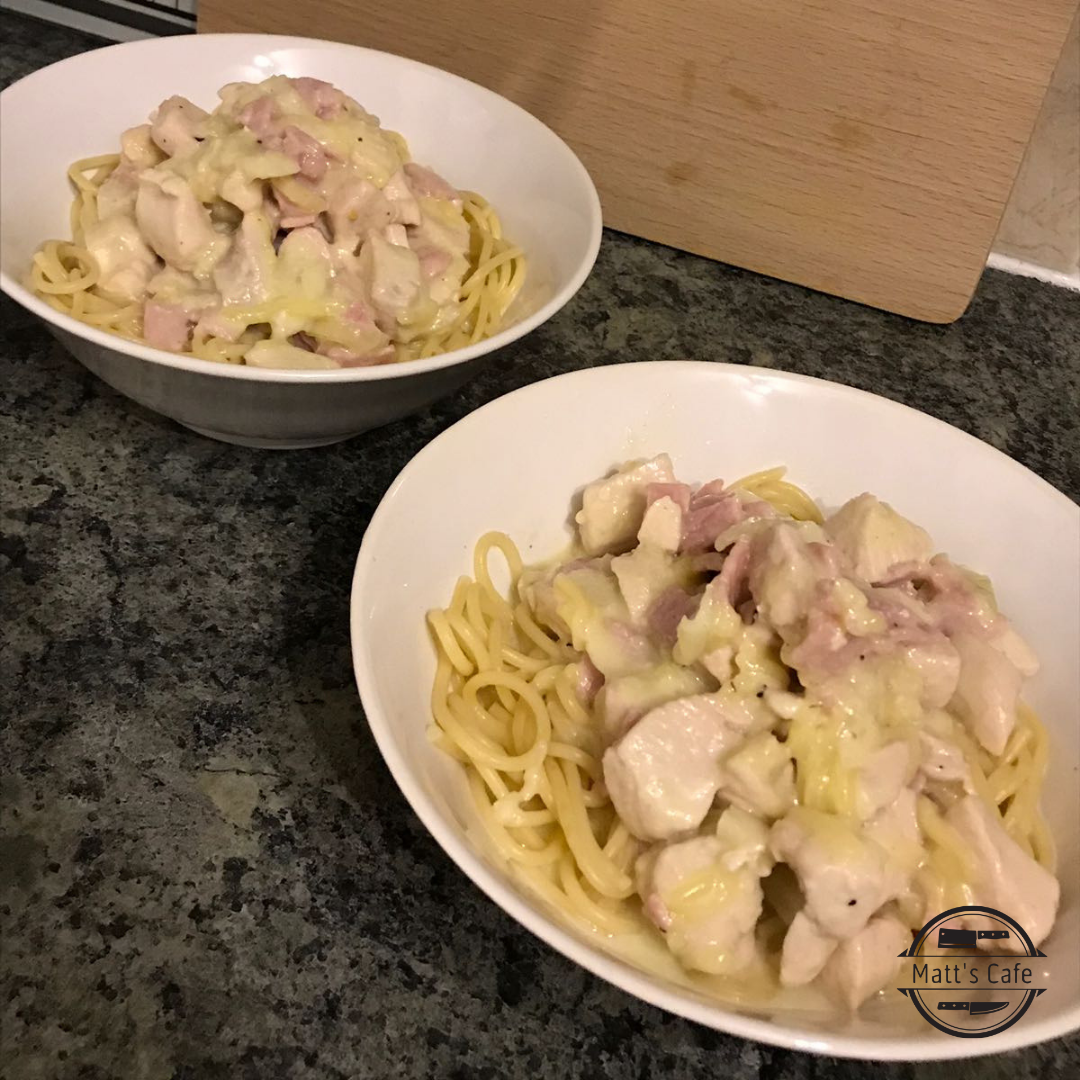 Slimming World Syn Free Chicken Spaghetti Carbonara, Chicken Carbonara, Spaghetti Carbonara