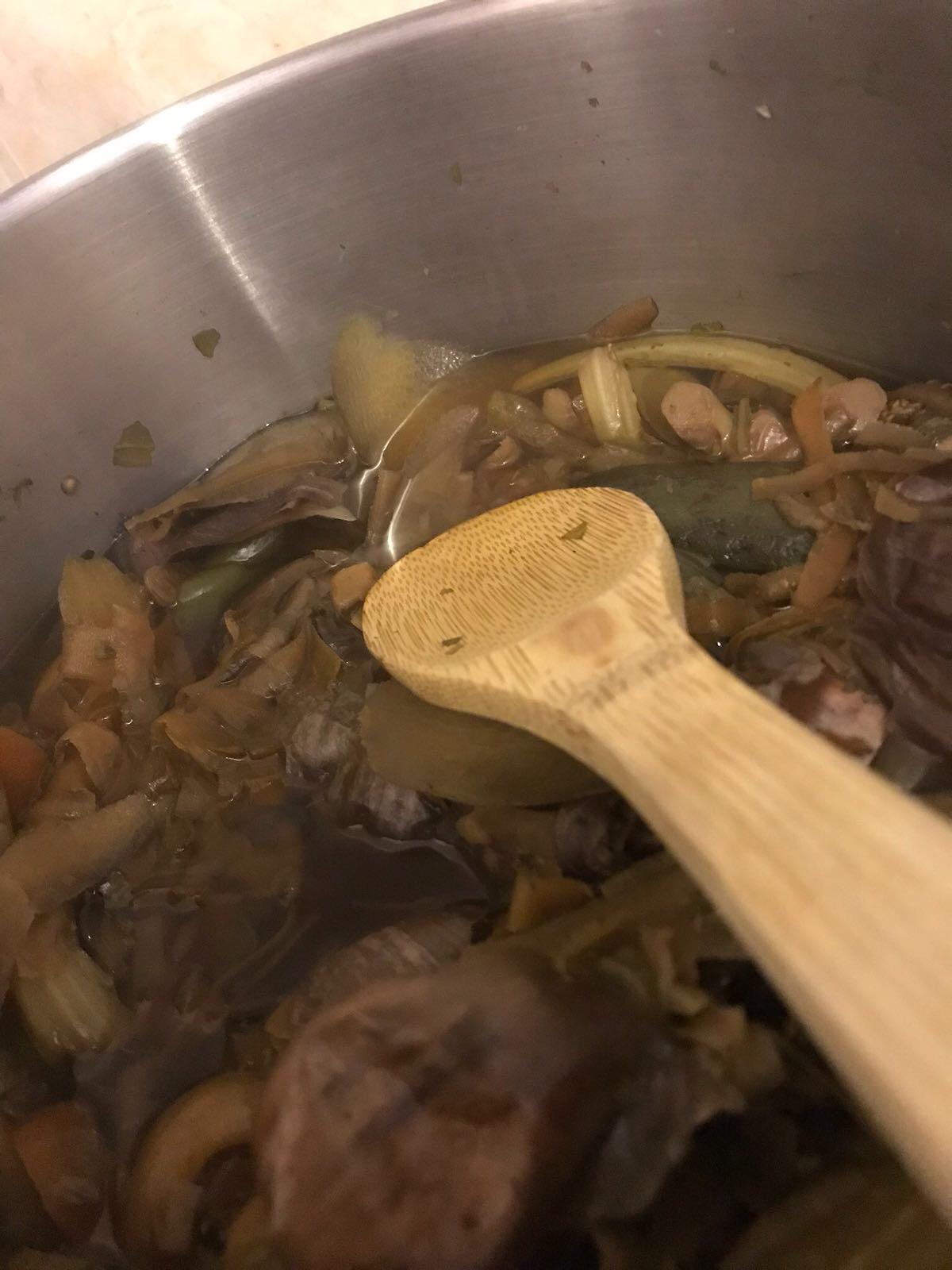Homemade Vegetable Stock ~ Frugal Foods - stock on the boil
