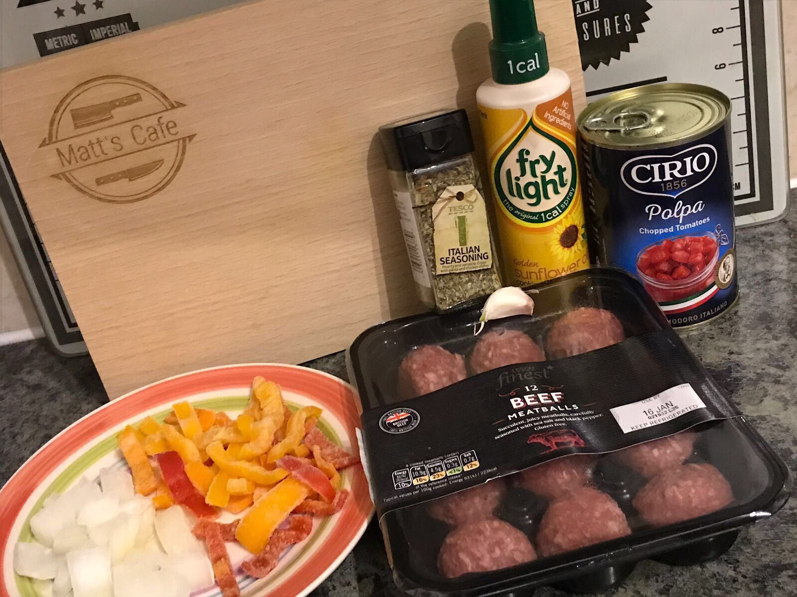 Slimming World Low Syn Baked Meatballs - ingredients