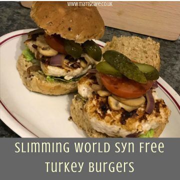 Slimming World Syn Free Turkey Burgers