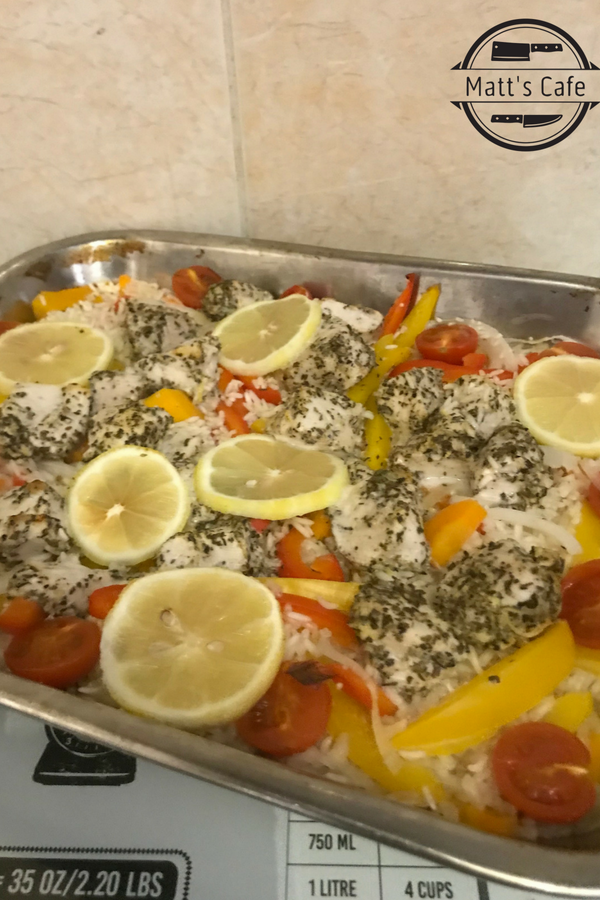 Slimming World lemon chicken traybake