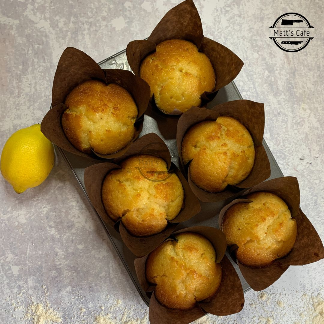 cooked lemon curd muffins