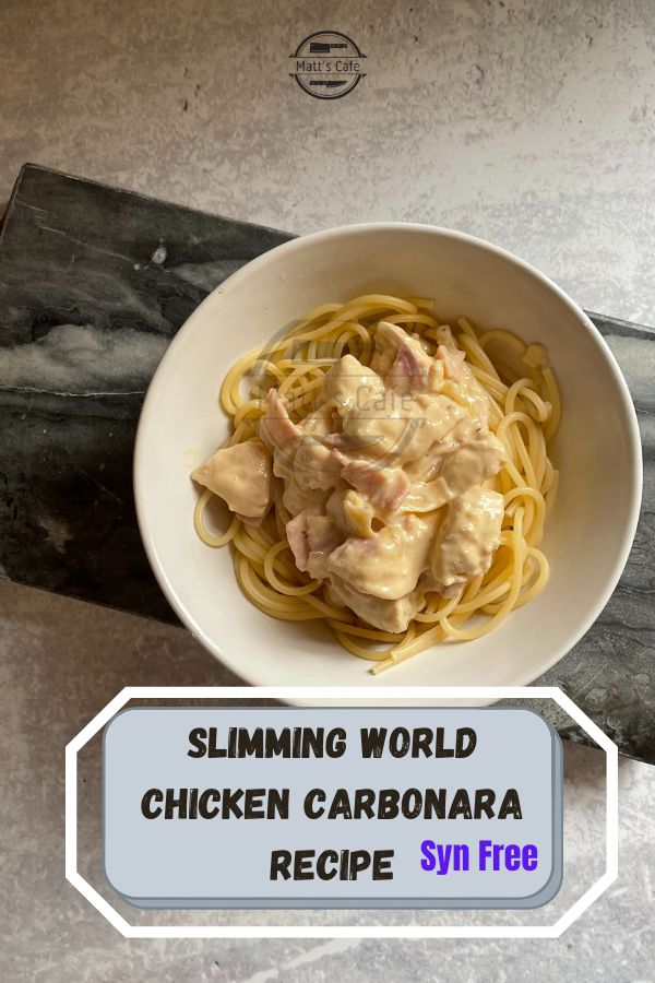 Slimming World Chicken Carbonara Recipe