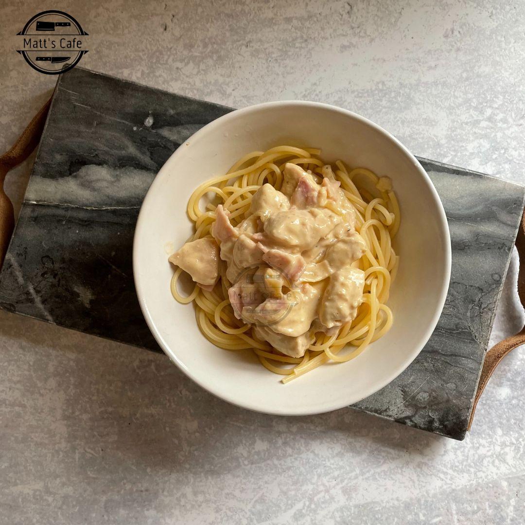 Slimming world Chicken Spaghetti Carbonara Recipe (1)